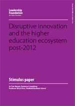 Disruptive innovation and the higher education ecosystem post-2012